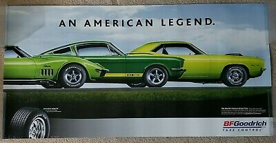BF Goodrich Tires Poster - Original Cuda, G.T. 350, and Stingray - Original 2005