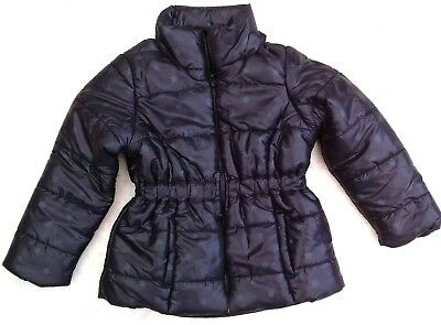 La Redoute GIRLS star print NAVY warm puffa quilted jacket coat Age 3 EU 94 NEW