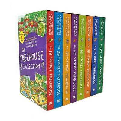 The 13-Storey Treehouse Collection - 8 Books Collection Set Andy Griffiths