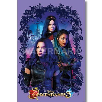 14x21 24x36 Descendants 1 2 3 Poster 2019 Channel Kenny Ortega Movie T-124