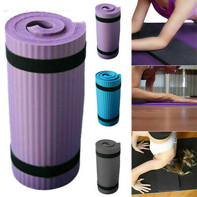 Extra Thick Yoga Mat 15mm Non Slip Exercise Pilates Gym Picnic Camping +Strap