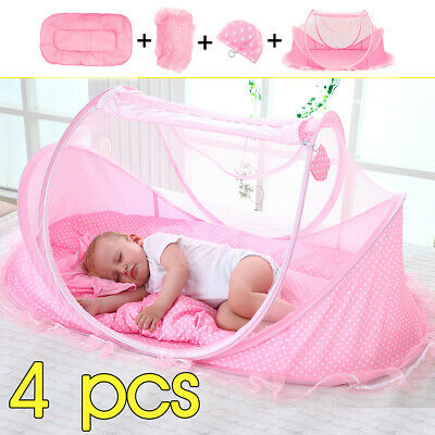 Baby Mosquito Nets Bedding Crib Folding Infant Cot Tent Bed Mat Portable