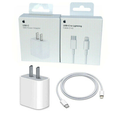 Original 18W Fast Charger USB-C to Lightning Cable 1M for iPhone 11 Pro X 8 ipad
