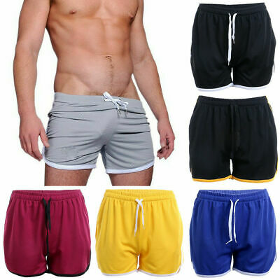 US Men Gym Fitness Shorts Running Sport Workout Casual Jogging Sweat Pant M-XXL