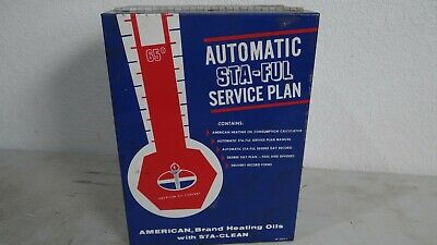 1960s AMOCO American Oil Company metal box Sta-Ful Service Plan Container NICE