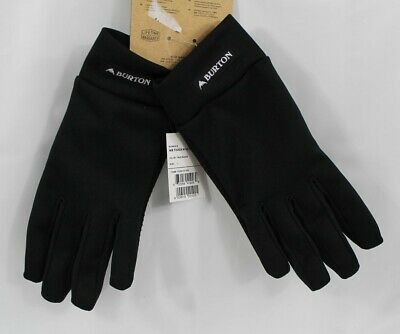 Burton Touch N Go Touch Screen Liner Gloves Womens Size Large True Black New