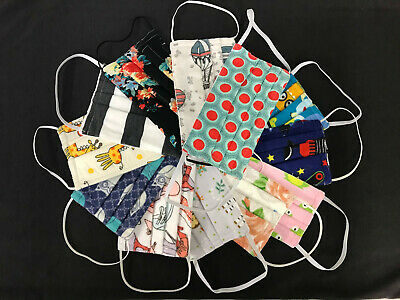 High Quality Cotton Blend Variety Face Masks (hand made, machine stitched)