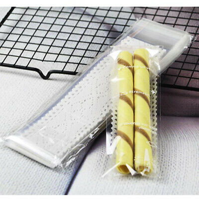 White Lace Finger Clear Plastic Gift Bags Cookie Candy Packaging Self-adhesive C