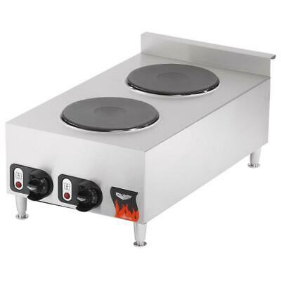Vollrat Cayenne 2 Burner Counter Top Electric Hot Plate - 208/240V - 4,000 Watts