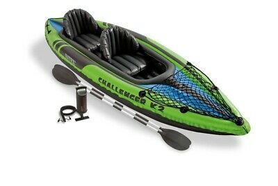 Intex Challenger K2 Kayak, 2-Person Inflatable Kayak Set with Oars and Pump