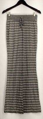 Xhilaration Size XS Lounge Pants Pull On Drawstring Striped Gray Womens
