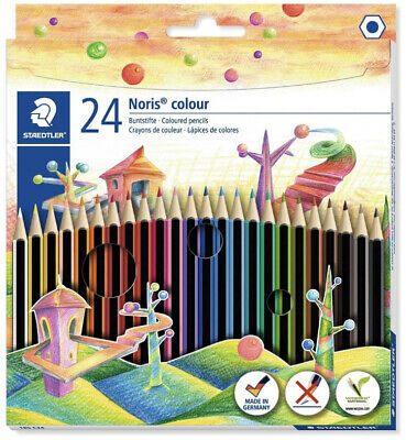 Brand New GreatAssorted Colours Staedtler 185 C24 Noris Colour Colouring Pencil
