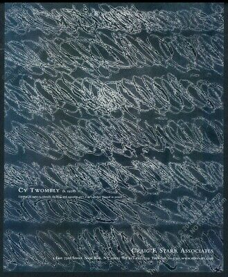 2006 Cy Twombly 1967 art NYC gallery vintage print ad