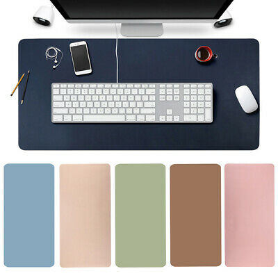 Large Leather Computer Desk Mat Modern Keyboard Mouse Pad Laptop Cushion NEW