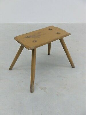 1950s ORIGINAL VINTAGE HUNGARIAN MILKING STOOL MID CENTURY DESIGN VERY PERRIAND