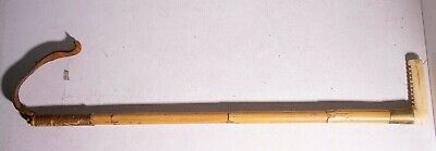 late 19th early 20th century ANTIQUE horse RIDING CROP equestrian