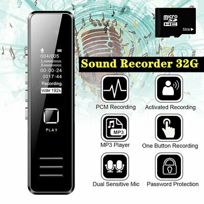 Digital Mini Spy Voice Sound Recorder Activated Small Handheld Audio MP3 Player