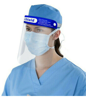 Safety Full Face Shield Clear Protector Anti-Splash Work Industry Dental Unisex