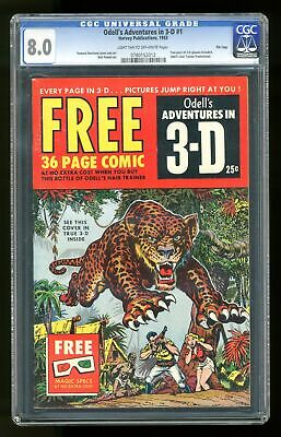Adventures in 3-D Odell Special Edition #1 CGC 8.0 1953 0780152012