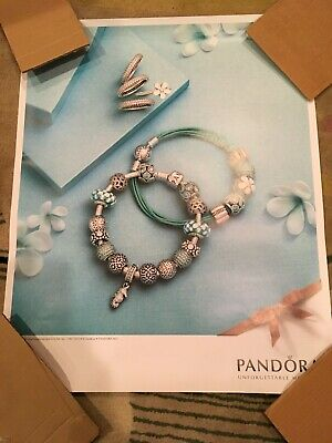 Authentic Pandora Jewelry Spring or Summer In Store Display large posters
