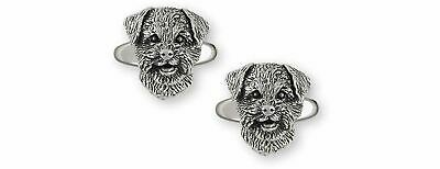 Border Terrier Jewelry Sterling Silver Handmade Border Terrier Cufflinks  BDT-CL