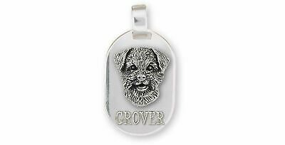Border Terrier Jewelry Sterling Silver Handmade Border Terrier Pendant  BDT-DT