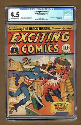 Exciting Comics #22 CGC 4.5 1942 1488615009