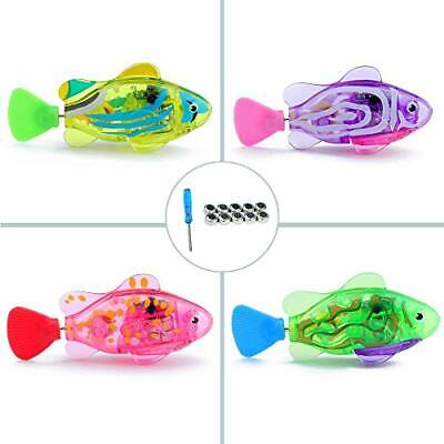 WoLover Interactive Swimming Robot Fish Toy for Cat and Dog with LED Light,...