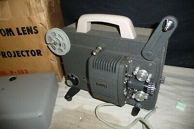 Cine film projector 8mm REXINA 8 P-103 zoom lens model solid well made + BOX