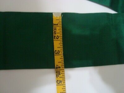 Antique Green Silk Ribbon For Dressing French Fashion Bisque Dolls 1 Yard