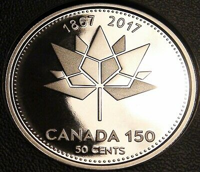 1867-2017 Canada 150th Anniversary SILVER 50 Cents Coin from PROOF Set