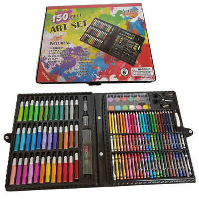 Art Set 150pcs For Kids Teens MINOR COSMETIC DAMAGE ON BOX - Interior is normal
