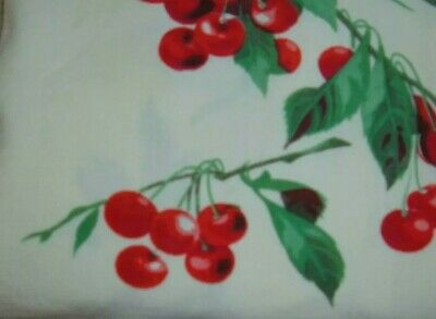 Vintage Towel Wilendur Red Cherries