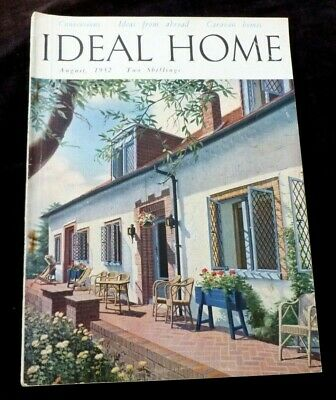 IDEAL HOME  MAGAZINE AUGUST 1952  Liberty of London, Hotpoint etc