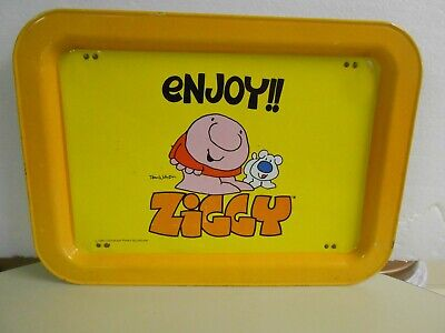 Vintage Ziggy Fold Down TV Food Serving Lap Tray 1981