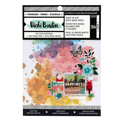 Vicki Boutin LET'S WANDER 6x8 PAPER PAD (36pc) READY-TO-USE MIXED MEDIA PAPER