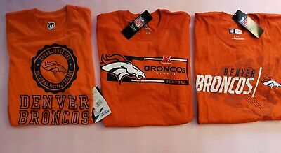 Denver Broncos lot of 3 T-shirts BRAND NEW WITH TAGS mens size Medium NFL Nice!