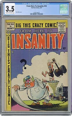 From Here to Insanity #10 CGC 3.5 1955 0346150020
