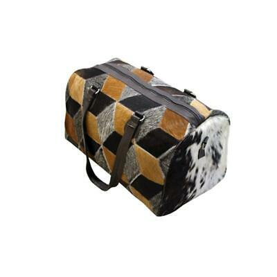 100% Real CowHide (HairOn) Leather Travel/Duffle/Gym Bag
