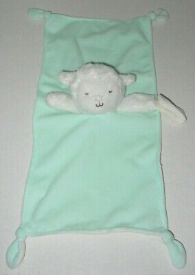 Carters Baby Lamb Security Blanket Sheep White Gray Sweet Dreams Lovey Plush NWT