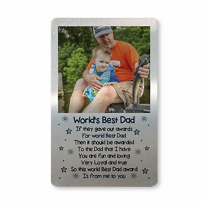 Personalised Fathers Day Birthday Gift For Dad Photo Wallet Card Gift For Him
