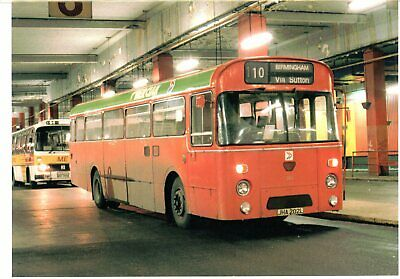 Greeting Card. Midland Red, Leyland Leopard, JHA202L, Bull Ring Bus Station
