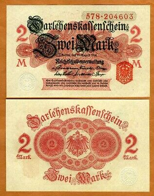Germany, 2 Mark, 1914, P-53, UNC > 106 years old