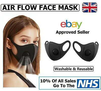 Air Flow Face Mask - Face, Mouth & Nose Protection Masks