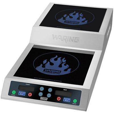 Waring Double Commercial Induction Range / Cooker with Step Up - 208/240V, 3600W