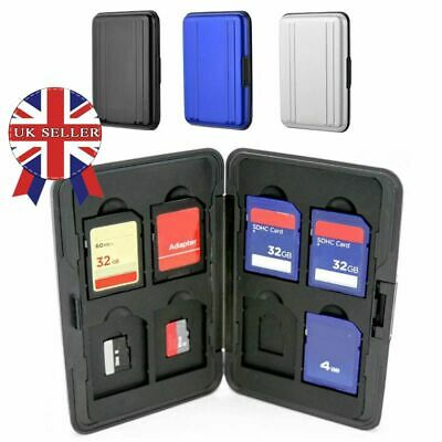 Silver Aluminum Memory Card Storage Case Box Holders For Micro SD Card 8 Slots