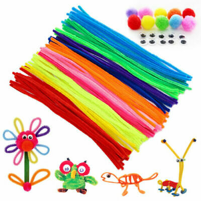 30cm Chenille Stems Pipe Cleaners for Craft 10 Colours or Assorted Packs Of 100