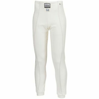 Sparco Guard RW-3 FIA Approved Rally Race Racing Long Johns In White