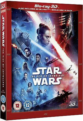 Star Wars THE RISE OF SKYWALKER 3D + 2D Blu-Ray with slipcover NEW Free Ship