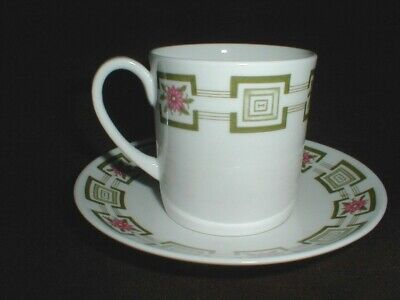 Susie Cooper Wedgwood Bone  China #C2074  ATHENA Cup Saucer/s (big)